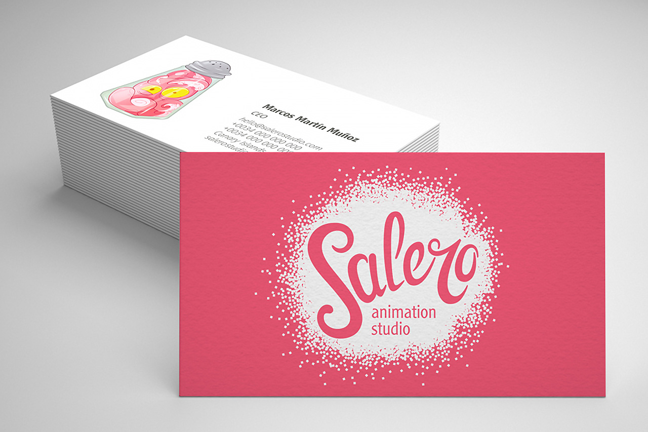 Tarjetas de Visita de Salero Animation Studio