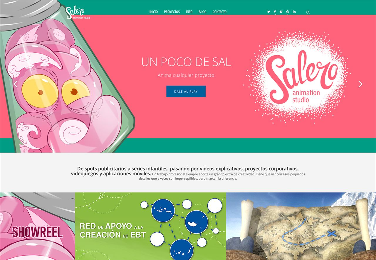 Web de Salero Animation Studio